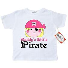 Inktastic Pirate Girl Daddys Little Toddler T-Shirt Cute Pink Skull And Funny