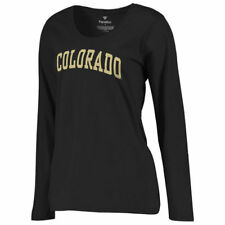 Colorado Buffaloes Women's Black Basic Arch Long Sleeve T-Shirt