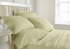 1500TC HIGH QUALITY IVORY SOLID LAVISH BEDDINGS 100% EGYPTIAN COTTON ALL SIZES!!