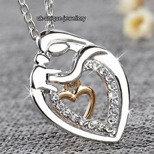 Silver & Gold Heart Necklaces Women Mother Daughter Aunt Niece XMAS Gift For Her