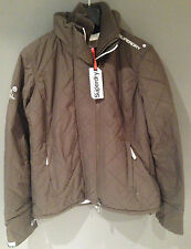 Superdry Sherpa Fur Quilted Windcheater Jacket New Womens Coat