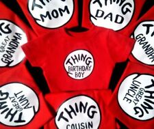 THING 1 THING 2 ADULT youth TODDLER infant t shirts custom too