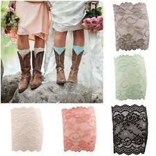 1 Pair Floral Women Lace Boot Toppers Cuffs Leg Warmers Gril Stretch Sock