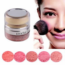 Women Natural 3D Pure Mineral Cheek Blush Blusher Powder Cosmetic With Sponge E