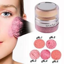 Women Natural Mineral Face Cheek Blush Blusher Powder Cosmetic With Sponge D