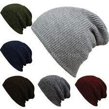 Ladies Mens Knitted Woolly Winter Oversized Slouch Beanie Hat Cap Slouchy Y4I4