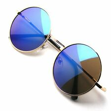 Retro Vintage Round Mirrored Sunglasses Eyewear Outdoor Sports Glasses