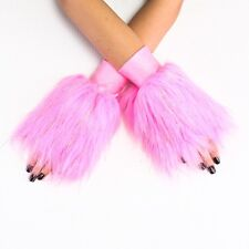 Sparkle Furry Fuzzy Wrist Cuffs Rave Dance Costume Wear - Made in USA - Closeout