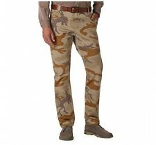 Dockers Alpha Khaki Slim-Fit Flat-Front Tapered Leg Brown Camo Pants NWT