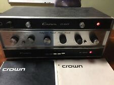 CROWN IC-150 PRE-AMPLIFIER+CROWN D-60 EXCELLENT CONDITION+OWNER MANUALS VINTAGE