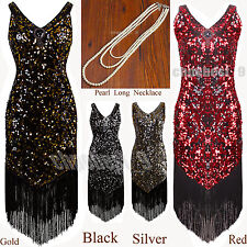 Sequin Tassel 1920s Flapper Dress Gatsby Fringe Party Fancy Cocktail 20s Costume