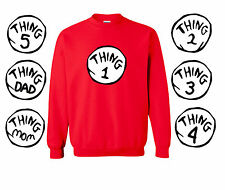 Dr Seuss Thing 1,2,3,4,5 crewneck sweatshirt  yourth adult woman toddler Costume