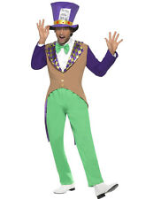 Mens Mad Hatter Fancy Dress Costume Alice In Wonderland Outfit