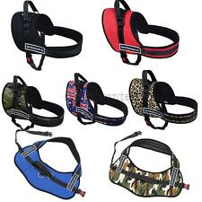Dog Walking Harness Travel Safety Chest Vest Padded Strap Belt 7 Colors XS -XL