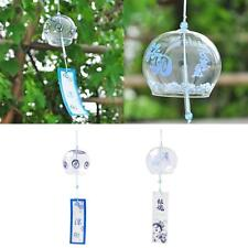 Japenese Style Lucky Glass Wind Chime Hanging Bell Home Garden Craft DIY Decor