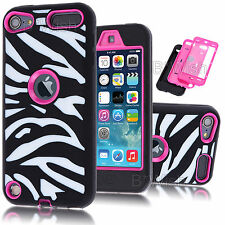 For iPod Touch 5th 6th Gen Shock Proof Hard Soft Cover Case Hybrid Protector
