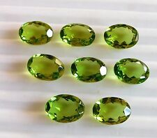 4x3mm -7x9mm Natural Peridot Oval Faceted Cut Top Quality Loose Gemstone Lot