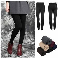 Women Warm Winter Thick Footless Skinny Slim Leggings Stretch Pants WA
