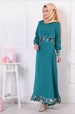 Sefamerve Green Hijab Dress