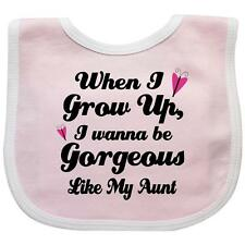 Inktastic Gorgeous Like My Aunt Baby Bib Granddaughter Girls Cute Funny Family I