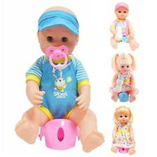 Realistic Vinyl Baby Boy/Girl w/ Clothes Set Kids Mommy Daddy Pretend Play Gift