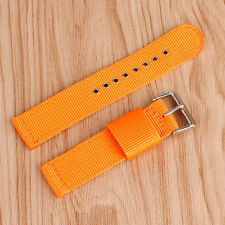 20/22/24mm Nylon Watch Strap Wrist Band Sport Soft Black/Blue/Orange/Army Green