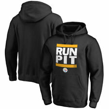 NFL Pro Line Pittsburgh Steelers Black RUN-CTY Pullover Hoodie - NFL