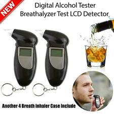 Digital Alcohol Breath Tester Breathalyzer Analyzer Detector Test Keychain BEST!