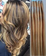 """18"""",20"""" 100grs,40pcs, 100% HIGHLIGHTED Human Tape In Hair Extensions #6/613"""