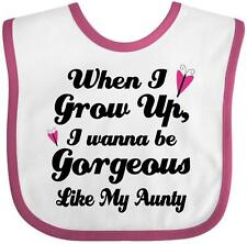 Inktastic Gorgeous Like My Aunty Baby Bib Aunt Gift From Granddaughter Girls I