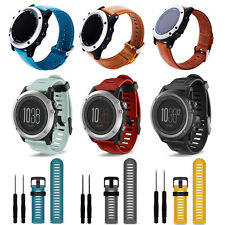 Replacement Wristband TPU/Leather Strap Bracelet+Tool Pin For Garmin Smart Watch