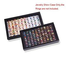 100 Slots Storage Earrings Display Box Jewelry Organizer Useful Holder Show Case
