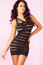 Pink Lipstick Asymetric Mini Dress with Cut-Outs