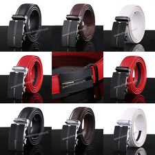 Men's Belts Automatic Buckle Belt Black Fashion Genuine Leather Belts Waistband