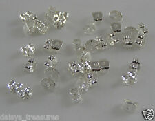 Earring backs SP silver plated ear ring back lost replacements packs 100 or 500