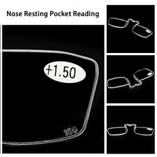 Mini Nose Resting Pocket Reading Glasses Clip Strength 1.0 1.5 2.0 2.5 3.0