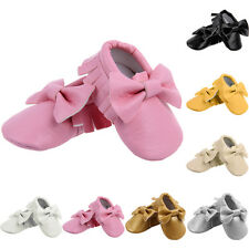 0-18M Kids Infant Toddler Baby Sequin Tassel Soft Sole PU Leather Shoes Moccasin