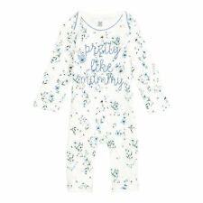 Bluezoo Kids Baby Girls' Cream Floral Print 'Pretty Like Mummy' Romper Suit