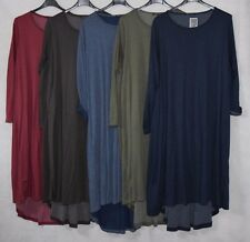 NEW ITALIAN LADIES PLUS SIZE LAGENLOOK BOHO QUIRKY LONG SLEEVE  TUNIC DRESS OSFA