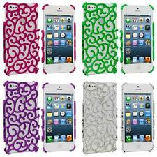 For iPhone 5 5G 5S Color Electroplated Floral Flower Luxury Design Case Cover