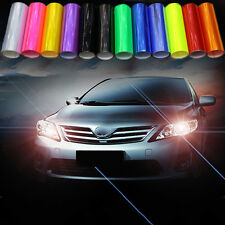 Auto Car Smoke Fog Light Headlight Taillight Tint Vinyl Film Sheet Sticker Happy