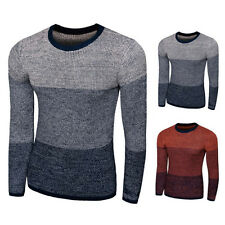 Mens Sweaters Long Sleeve Slim Casual Crew neck Knitwear Pullover Tops NEW
