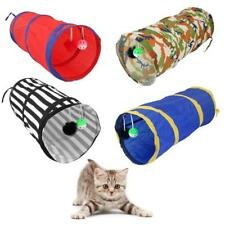 CAT KITTEN POP UP PLAY TUNNEL INCLUDES 2 SUSPENDED BALL PET RABBIT FUN TUBE