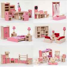 Top Quality Wooden Furniture Doll House Miniature Room Set Doll Educational Toy