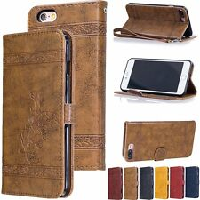 Luxury PU Leather Flip Wallet Cards Stand Cover Case For iPhone 5 5s 6 6s 7 Plus