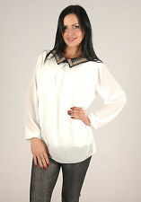 New Womens Embellished Collar Classy Work Going Out Blouse