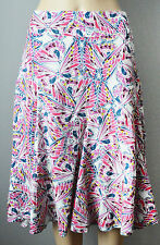 New White Stuff size 8 12 A line Multicolour White Pink Green butterfly Skirt