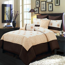 King Size 8PC Madison Bedding Set Includes Comforter Skirt Shams & Pillows