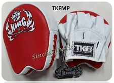 TOP KING FOCUS MITTS PADS TKFMP RED WHITE  FREE SIZE TRAINING SPARRING MMA K1