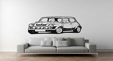 MINI COOPER CLASSIC CAR - WALL ART STICKER,DECAL